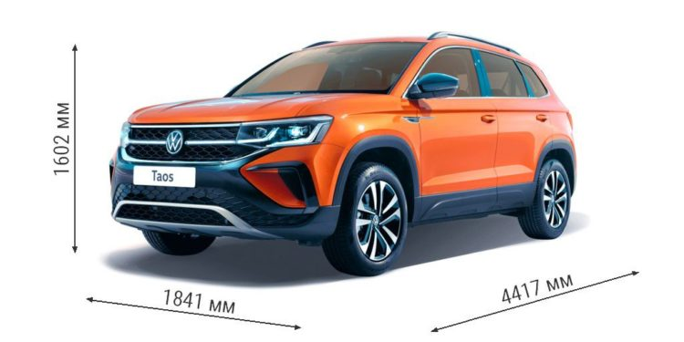 Габаритные размеры Volkswagen Taos